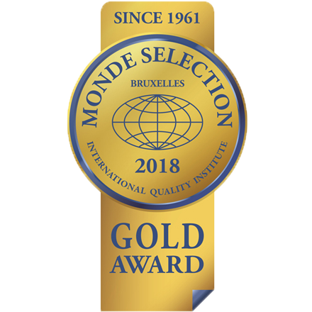 Monde Selection Gold Quality Award 2018